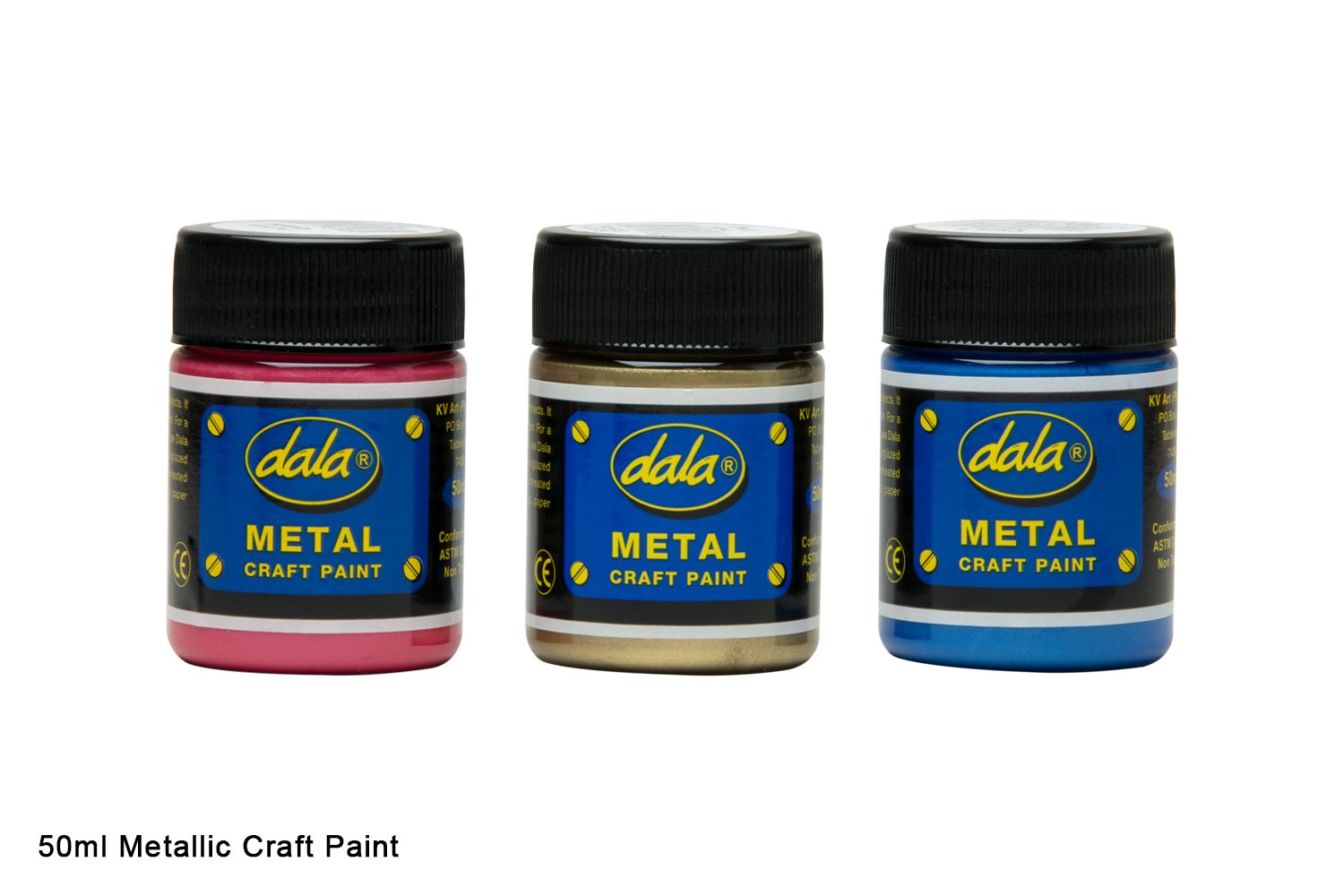 Craft Paint - Metallic Colours