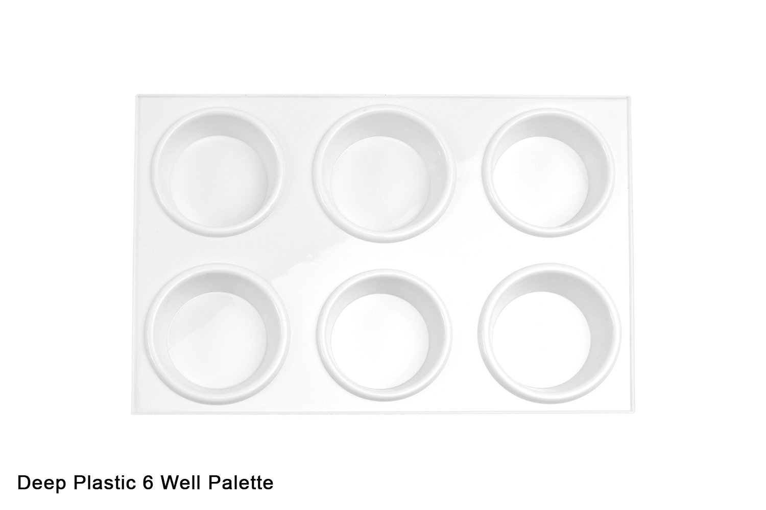 6 Deep Well Rectangular Plastic Palette